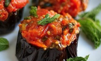 фаршированные баклажаны овощами