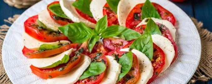итальянский рецепт капрезе