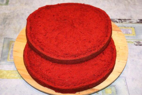 сливочная основа. красно черный торт