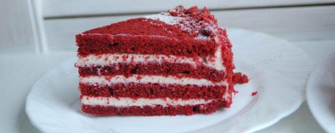 торт красное и чернное
