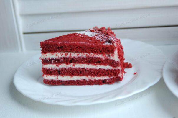 красно черный торт