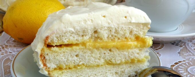 лимонный торт со сливками