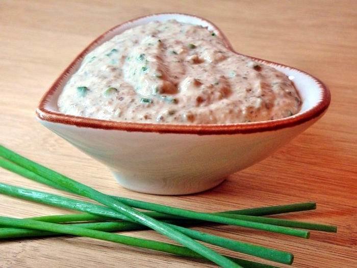Мясо под розовым соусом - оригинальный рецепт от Евгении