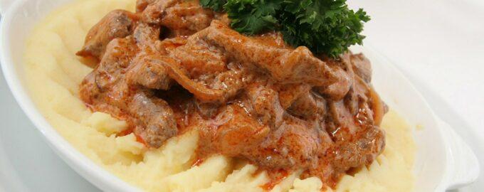 Рецепт мясо по-строгановски
