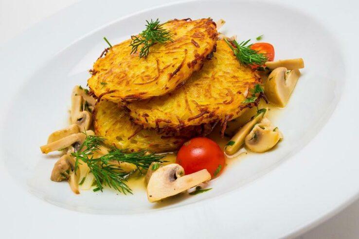 драники с грибами. готовим вкусные драники