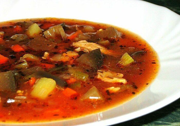 Овощной суп с баклажанами. Рецепты постных первых блюд