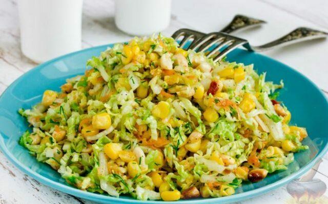 салат из кукурузы и арахиса