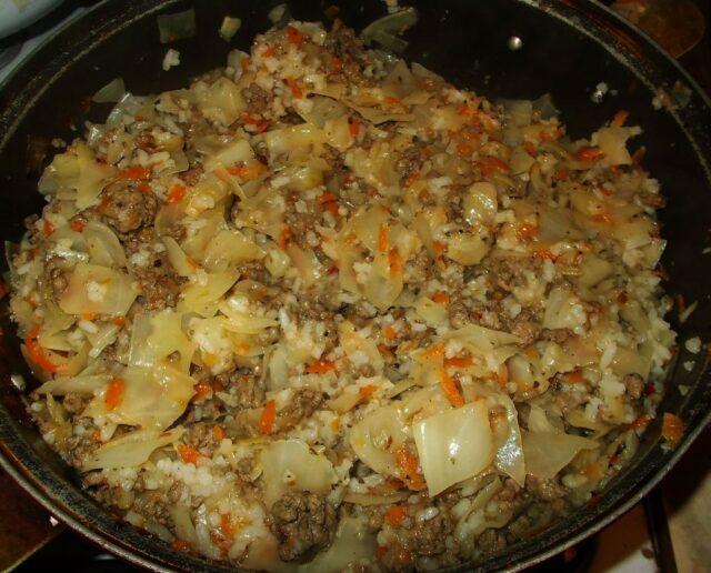 ленивых голубцов с рисом и фаршем и капустой. Вкусные рецепты на ужин.