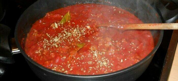 зажарка из помидор и чеснока