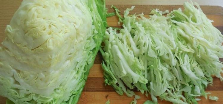 нарезанная молодая капуста. что приготовить из весенних овощей?