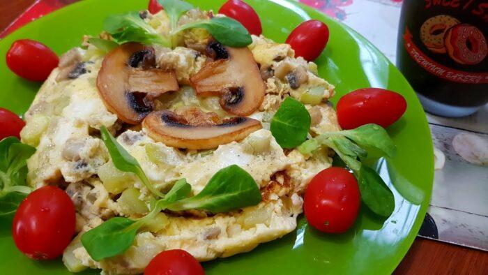 омлет с грибами и кабачками. Готовим вкусный омлет