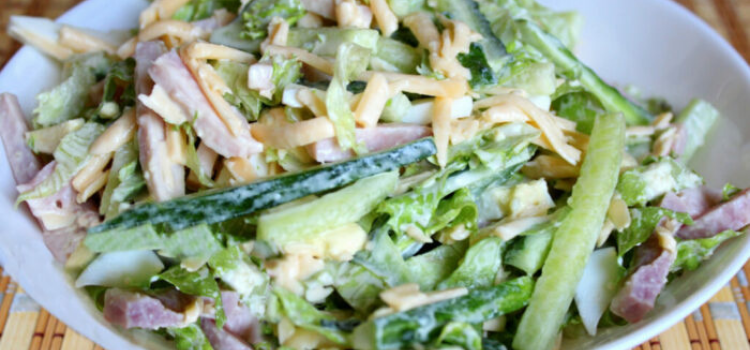 салат из ветчины и молодой капусты. Что приготовить из весенних овощей?