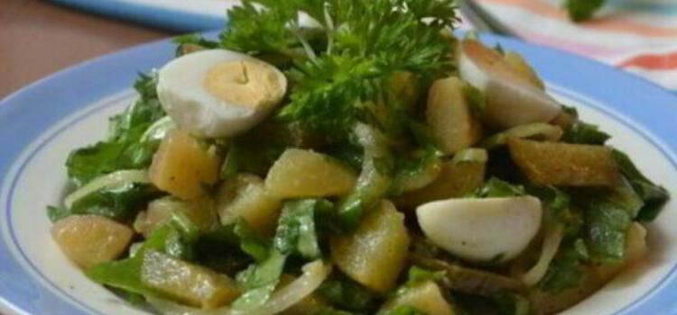 салат с молодым картофелем и щавелем.Что приготовить из весенних овощей