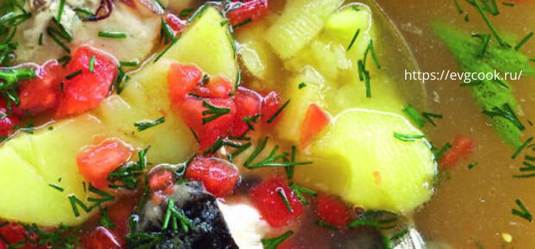 Рецепт ростовской ухи с помидорами.